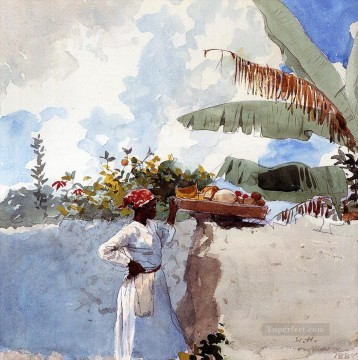 watercolor painting - Rest Winslow Homer watercolor