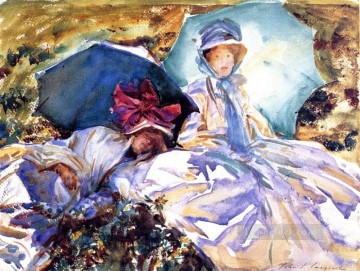Simplon Pass The Green Parasol John Singer Sargent watercolour Oil Paintings