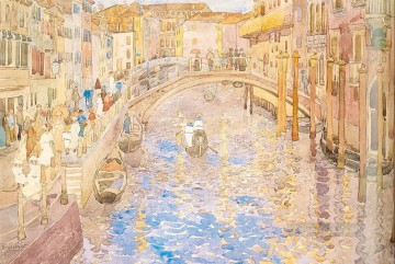 Venetian Canal Scene Maurice Prendergast watercolor Oil Paintings