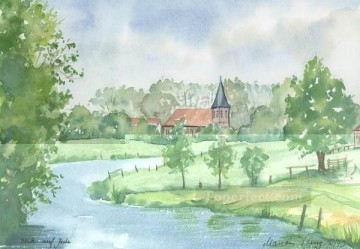 Watercolor Painting - sc026 water color