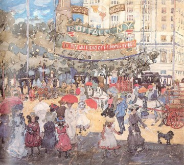 watercolor Painting - Madison Square Maurice Prendergast watercolor