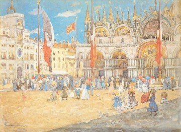 St Marks Venice Maurice Prendergast watercolor Oil Paintings