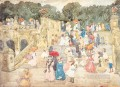 The Mall Central Park Maurice Prendergast watercolor