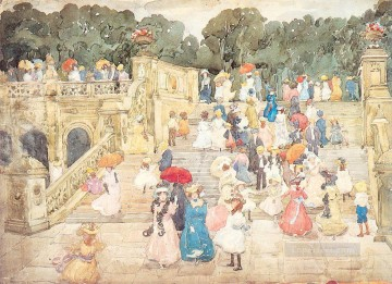 watercolor painting - The Mall Central Park Maurice Prendergast watercolor