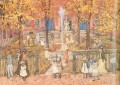 West Church Boston Maurice Prendergast watercolor