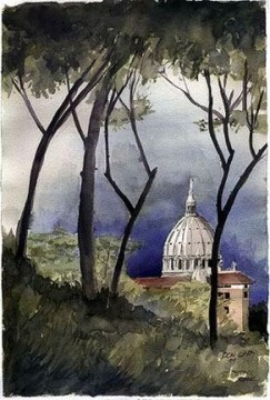 Watercolor Painting - sc135s water color