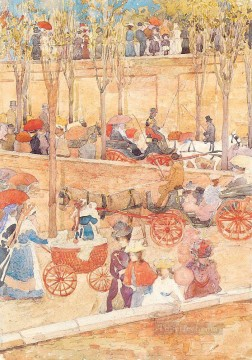 watercolor Deco Art - Afternoon Pincian Hill Maurice Prendergast watercolor
