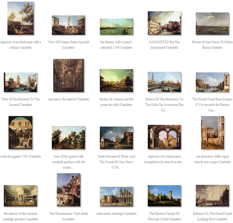 paintings of Canaletto