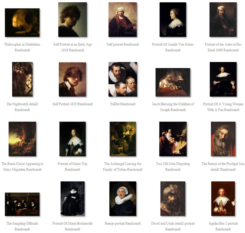 paintings of Rembrandt