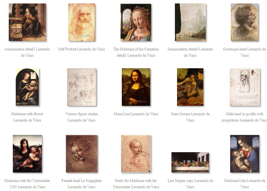 paintings of da Vinci