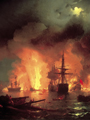 Naval Battle painting