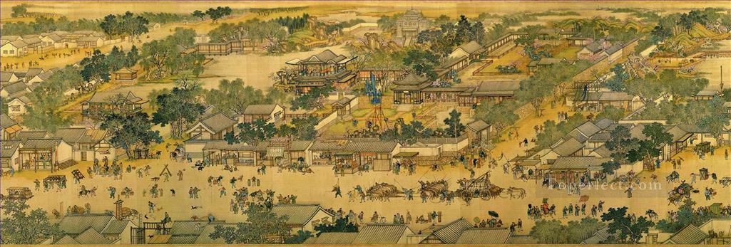 zhang zeduan qingming riverside seene part 3 traditional