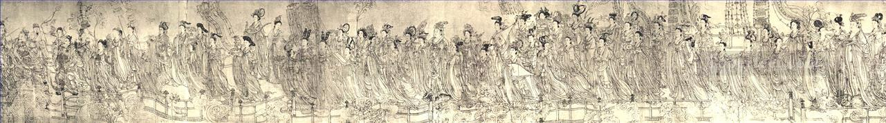 eighty seven celestial people Wu Daozi traditional Chinese Oil Paintings