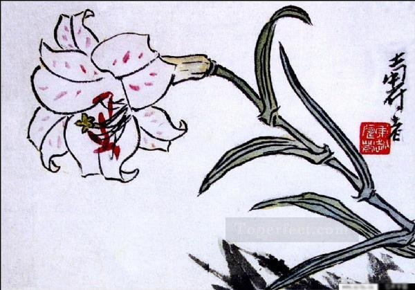 Pan tianshou flower traditional Chinese Oil Paintings