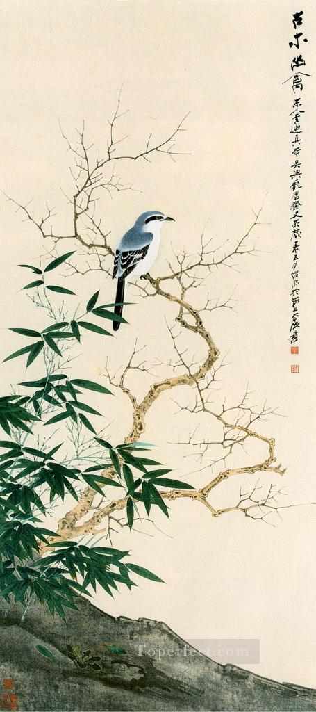 Chang dai chien bird in Spring traditional Chinese Oil Paintings