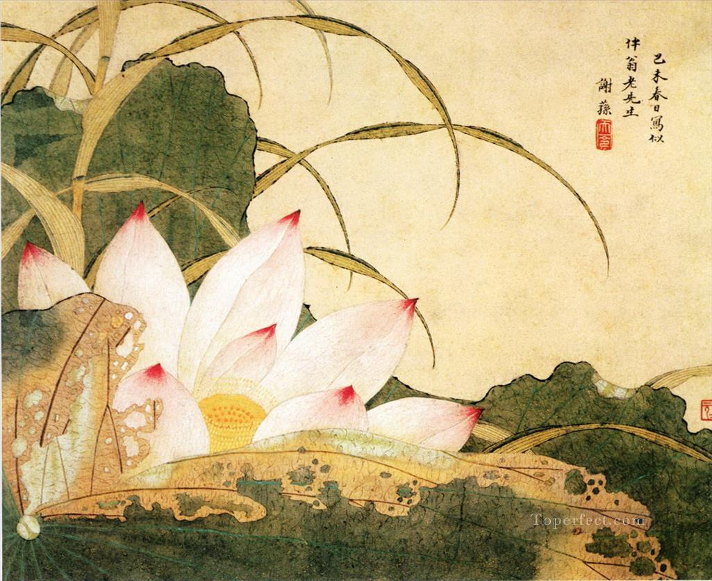 Xiesun lotus traditional China Oil Paintings