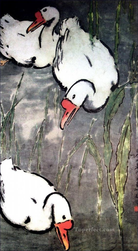 Xu Beihong goose 2 traditional China Oil Paintings