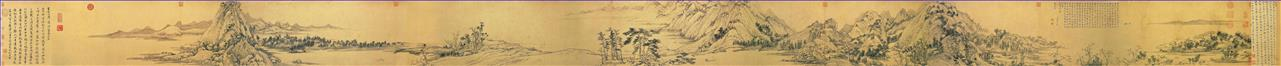 landscape of Fuchun mountain huang gongwang traditional Chinese Oil Paintings