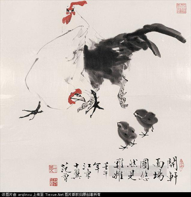 Fangzeng fowls traditional China Oil Paintings