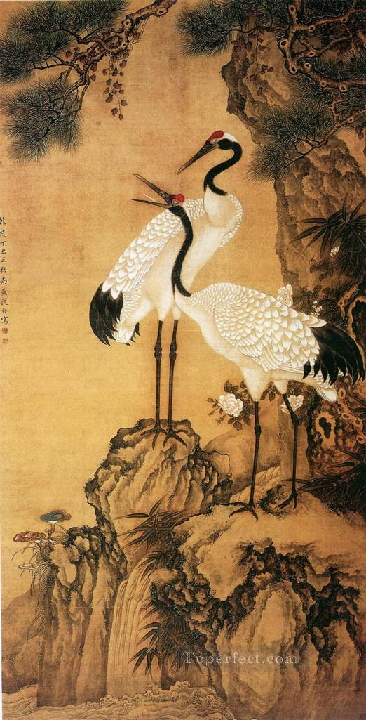 Shenquan cranes traditional China Oil Paintings