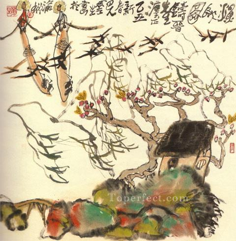 li huasheng sketch on a summer day 1981 traditional China Oil Paintings