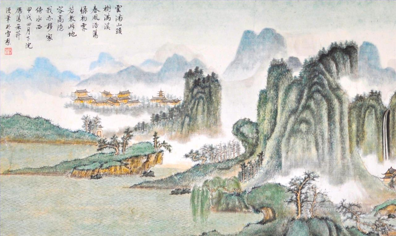 landscape courtesy of Zhang Cuiying traditional Chinese Oil Paintings