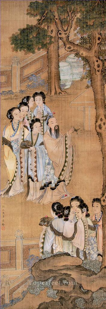 Xiong bingzhen women antique Chinese Oil Paintings