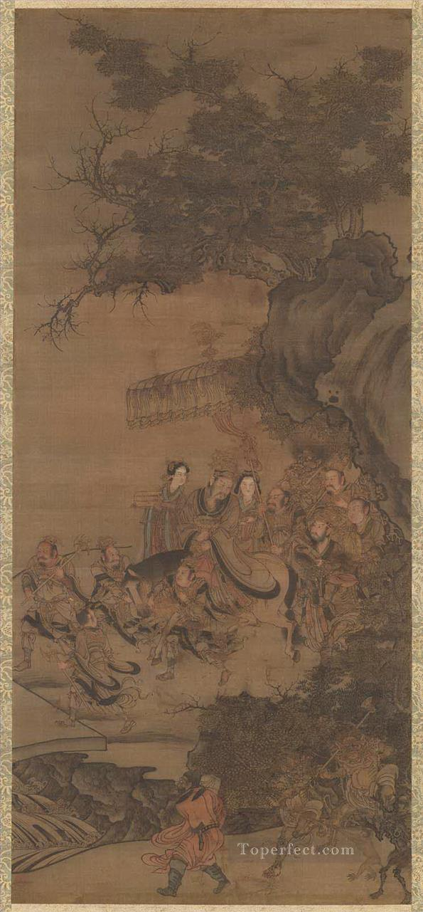 daoist deity of earth Wu Daozi traditional Chinese Oil Paintings