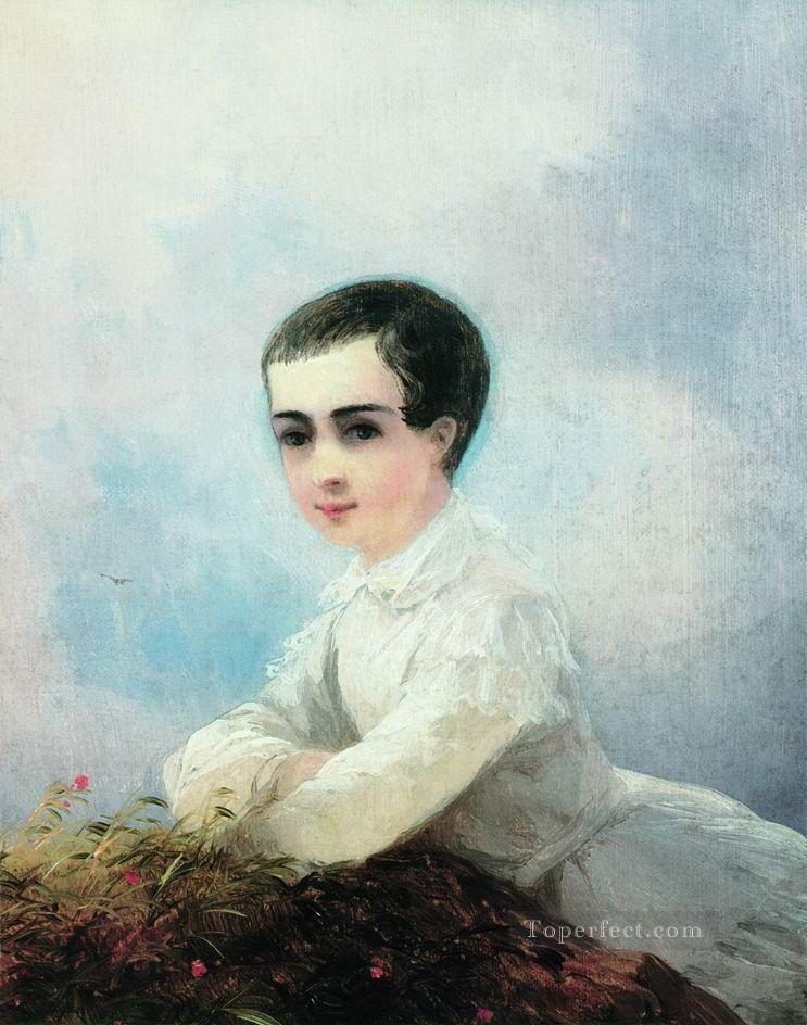 portrait of i lazarev 1851 Romantic Ivan Aivazovsky Russian Oil Paintings