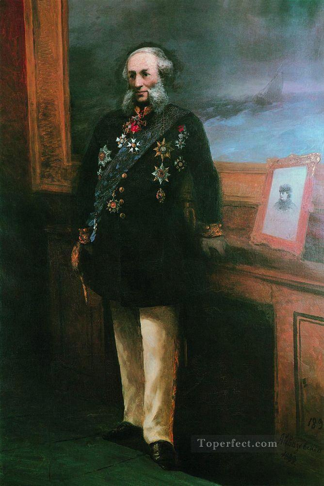 self portrait 1892 Romantic Ivan Aivazovsky Russian Oil Paintings