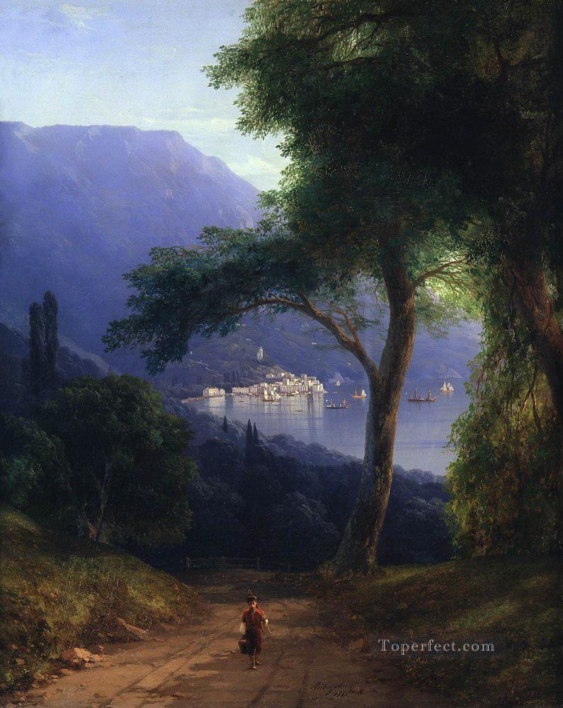view from livadia 1861 Romantic Ivan Aivazovsky Russian Oil Paintings