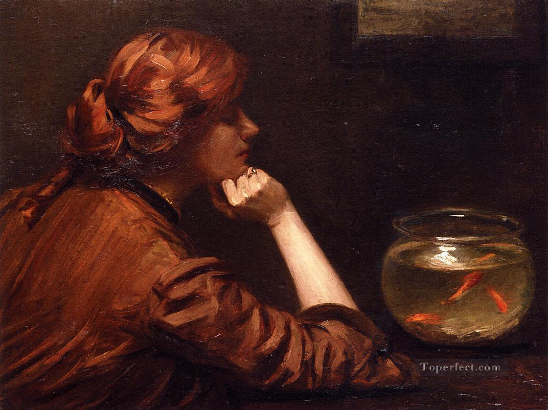An Idle Moment John White Alexander Oil Paintings