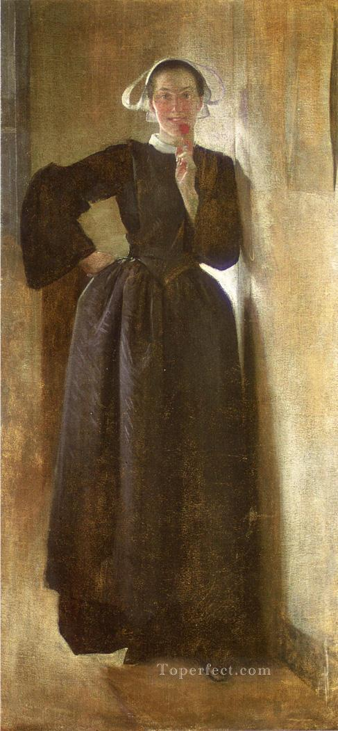 Josephine the Breton Maid John White Alexander Oil Paintings