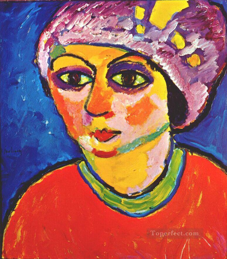 der violette turban 1911 Alexej von Jawlensky Oil Paintings