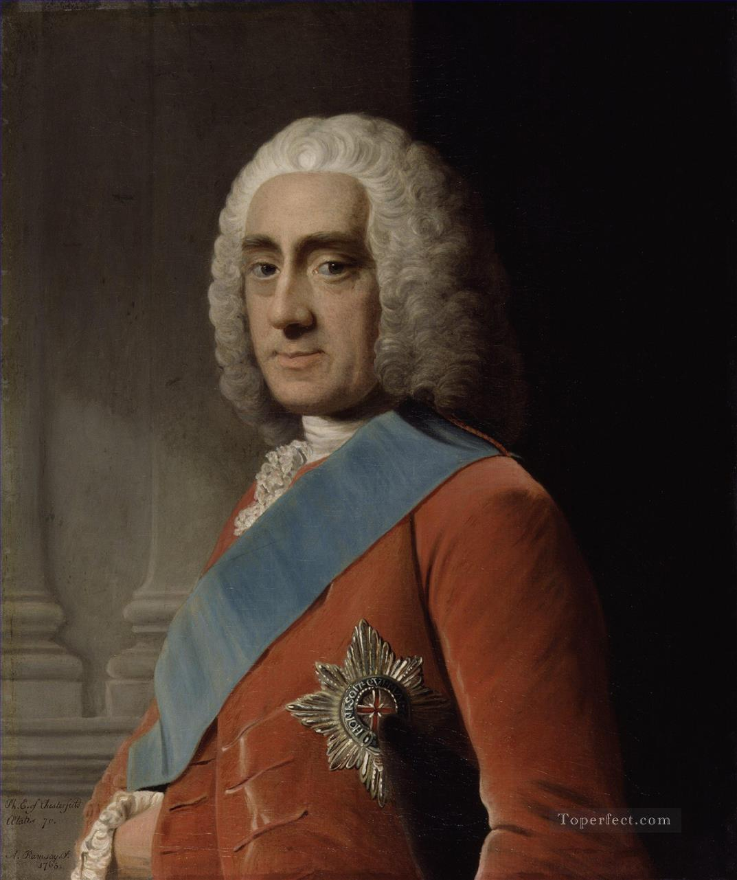 philip dormer stanhope 4th earl of chesterfield Allan Ramsay Portraiture Classicism Oil Paintings