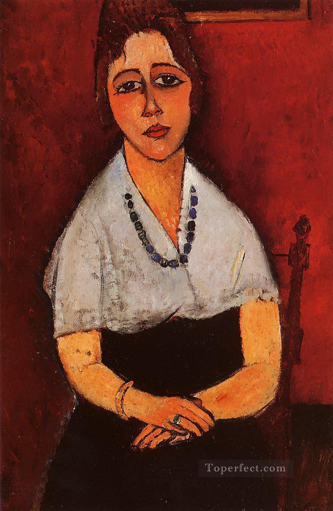 elena picard 1917 Amedeo Modigliani Oil Paintings