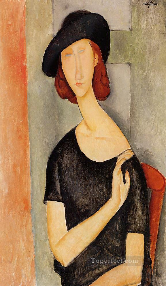 jeanne hebuterne in a hat Amedeo Modigliani Oil Paintings