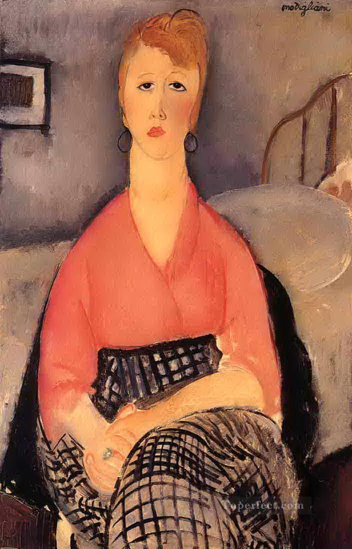 pink blouse 1919 Amedeo Modigliani Oil Paintings