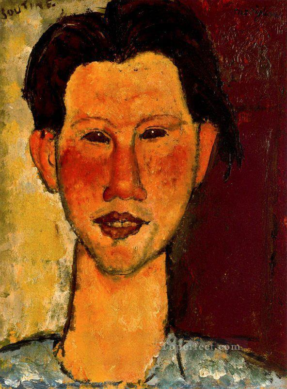 portrait of chaim soutine 1915 Amedeo Modigliani Oil Paintings