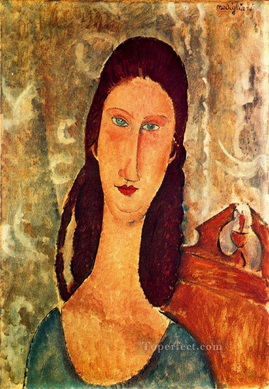 portrait of jeanne hebuterne 1919 1 Amedeo Modigliani Oil Paintings