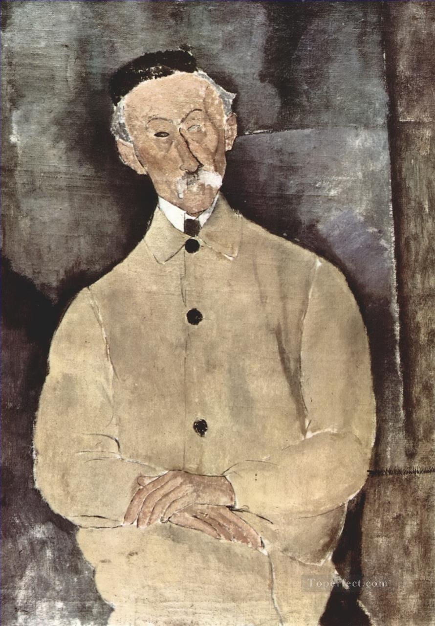 portrait of monsieur lepoutre 1916 Amedeo Modigliani Oil Paintings