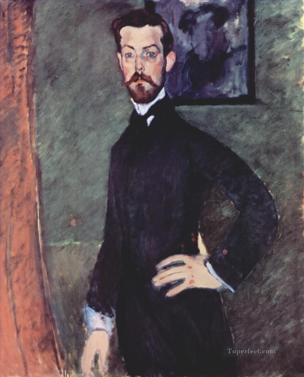 portrait of paul alexander on green background 1909 Amedeo Modigliani Oil Paintings