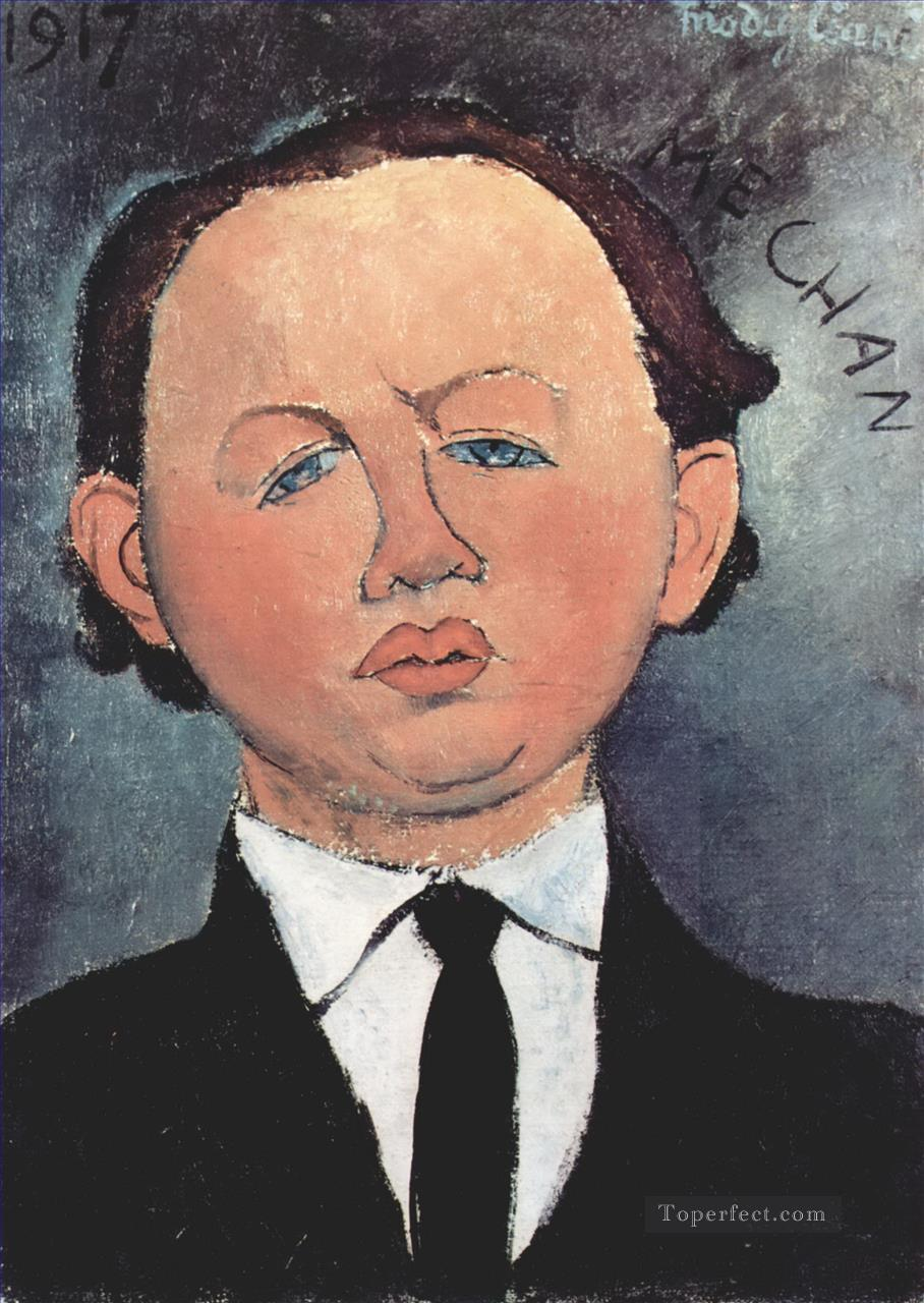 portrait of the mechanical 1917 Amedeo Modigliani Oil Paintings