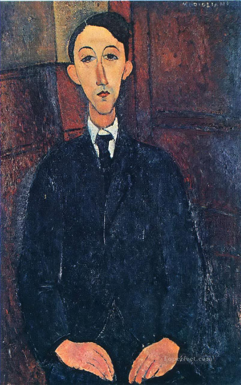 portrait of the painter manuel humbert 1916 1 Amedeo Modigliani Oil Paintings