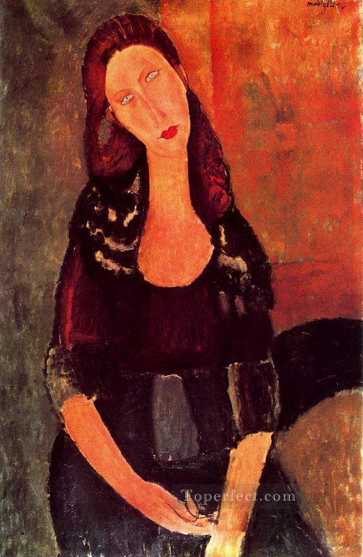 seated jeanne hebuterne 1918 Amedeo Modigliani Oil Paintings