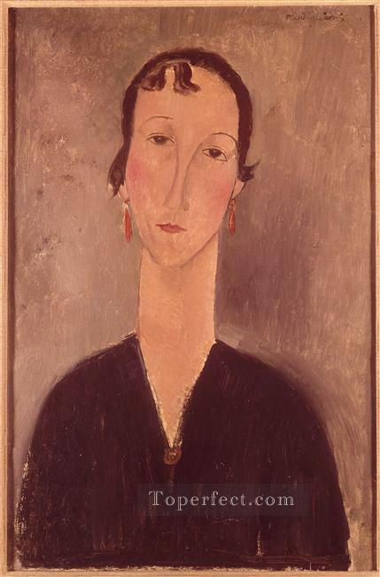 woman with earrings Amedeo Modigliani Oil Paintings