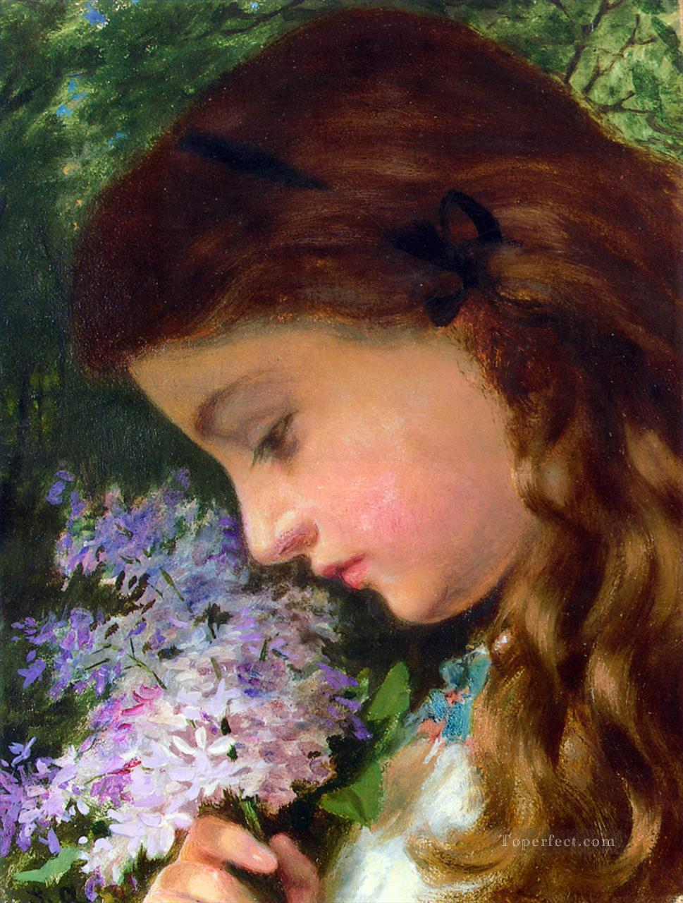 Girl With Lilac Sophie Gengembre Anderson Oil Paintings