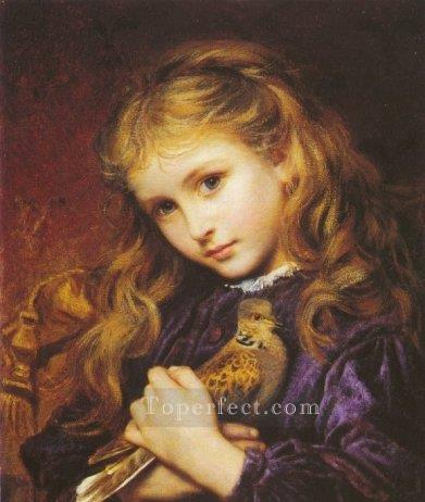 The Turtle Dove Small genre Sophie Gengembre Anderson Oil Paintings