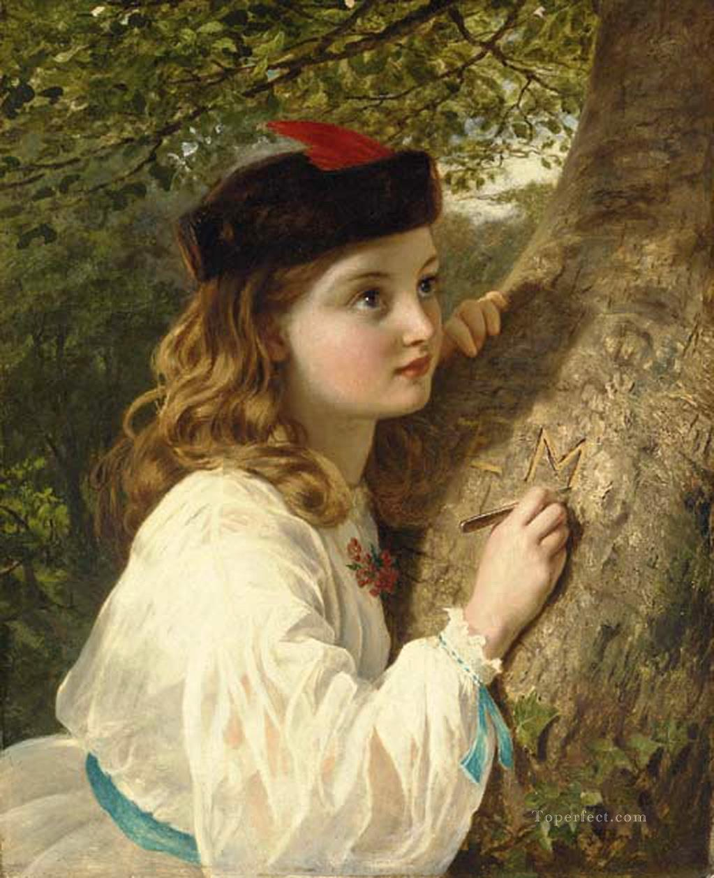 The initials Sophie Gengembre Anderson Oil Paintings