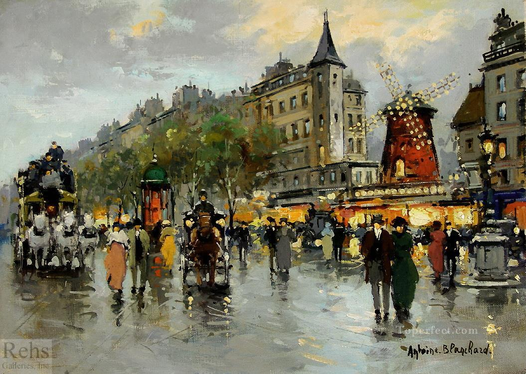 antoine blanchard le moulin rouge Painting in Oil for Sale